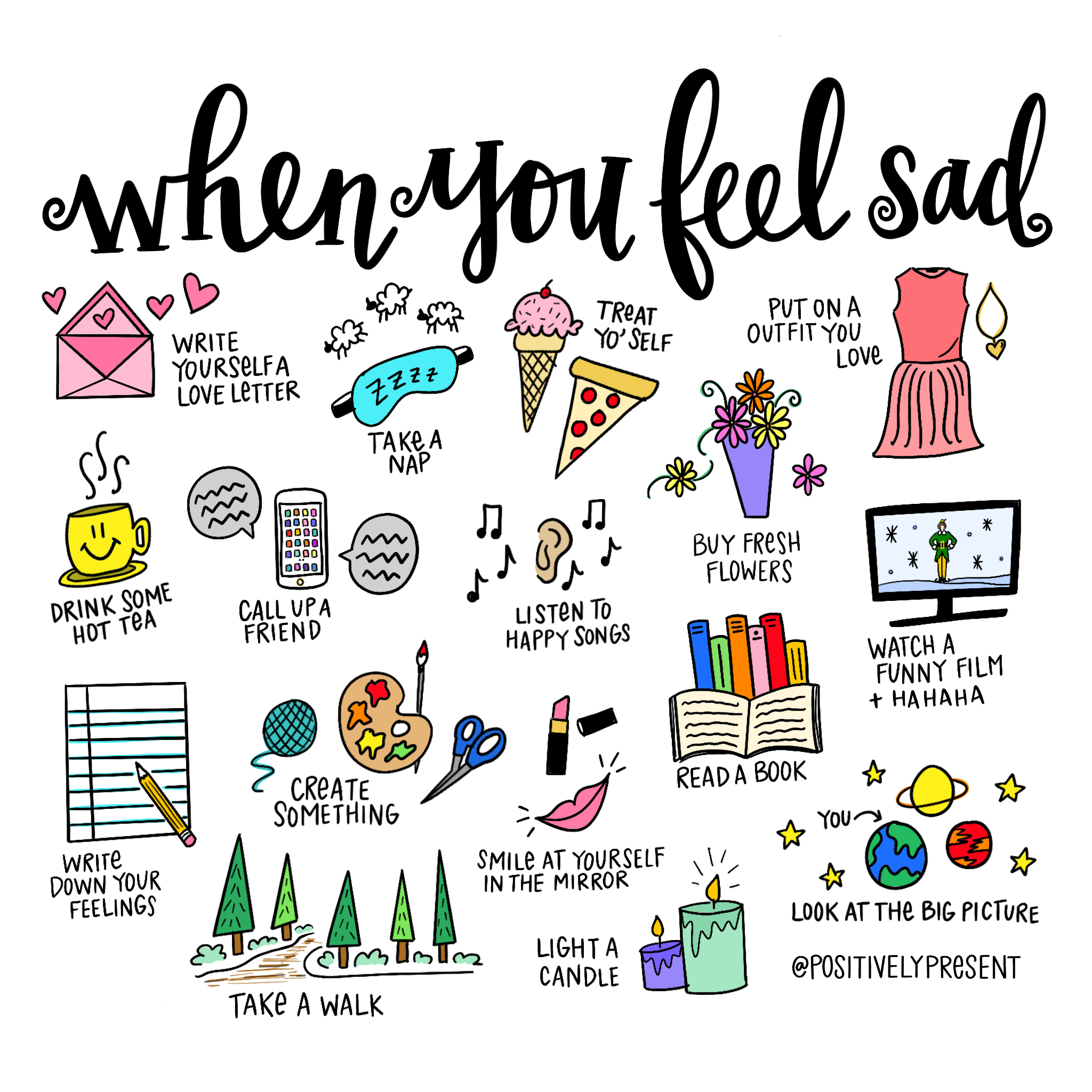 when you feel sad
