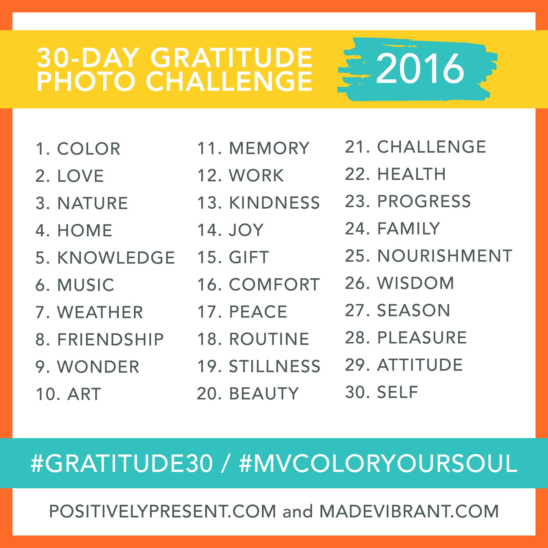 2016 gratitude challengfe