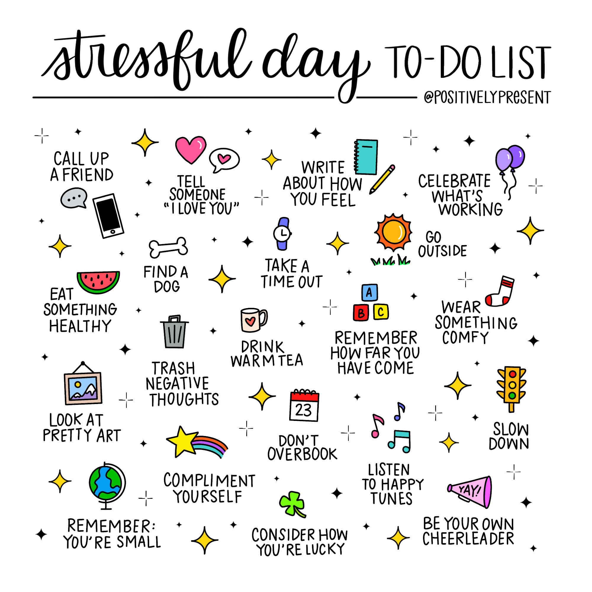 stressful to-do list