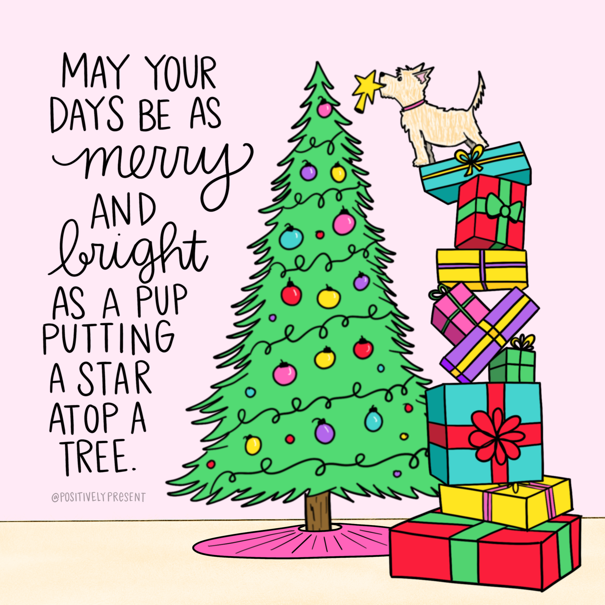 merry bright pup