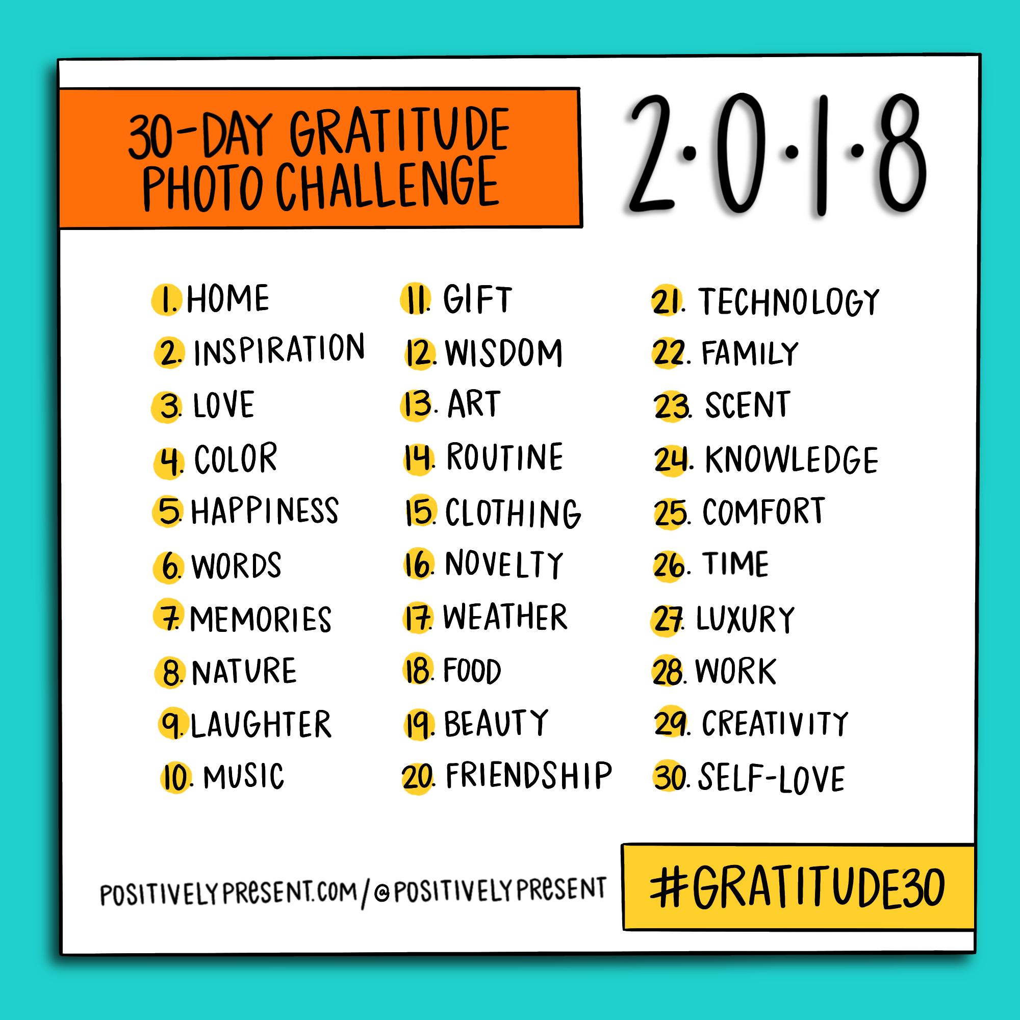 2018 gratitude challenge