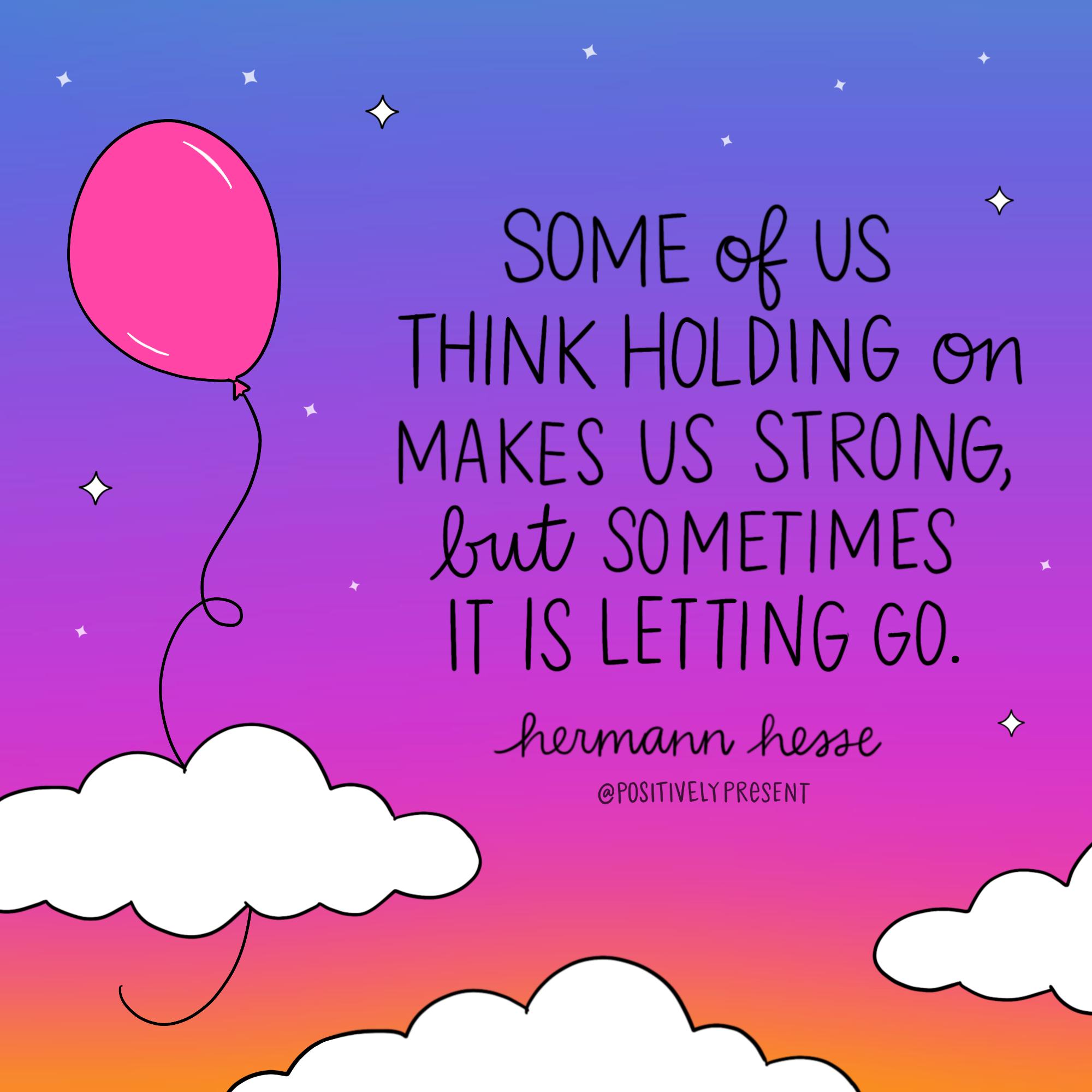 letting go balloon