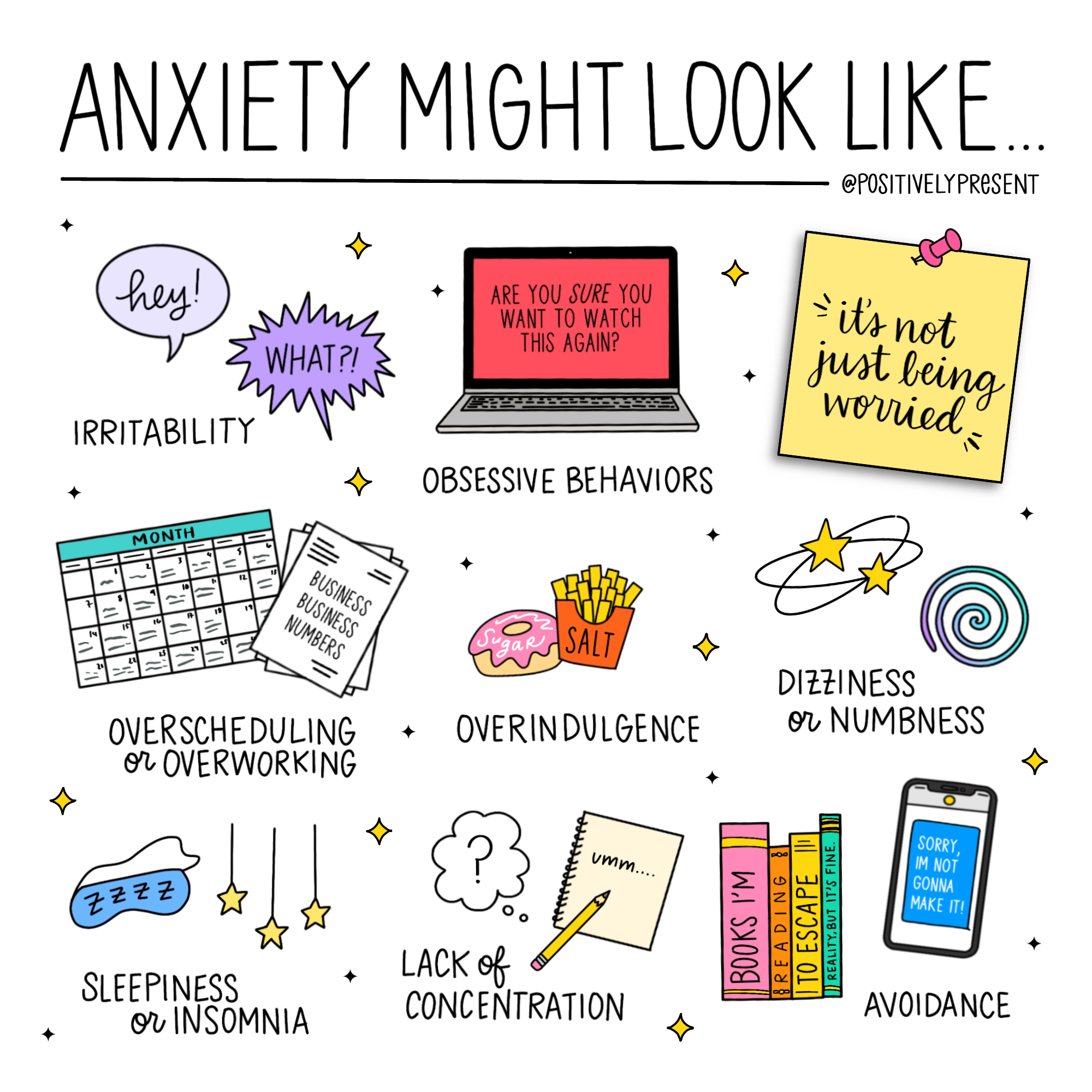 anxiety might look like