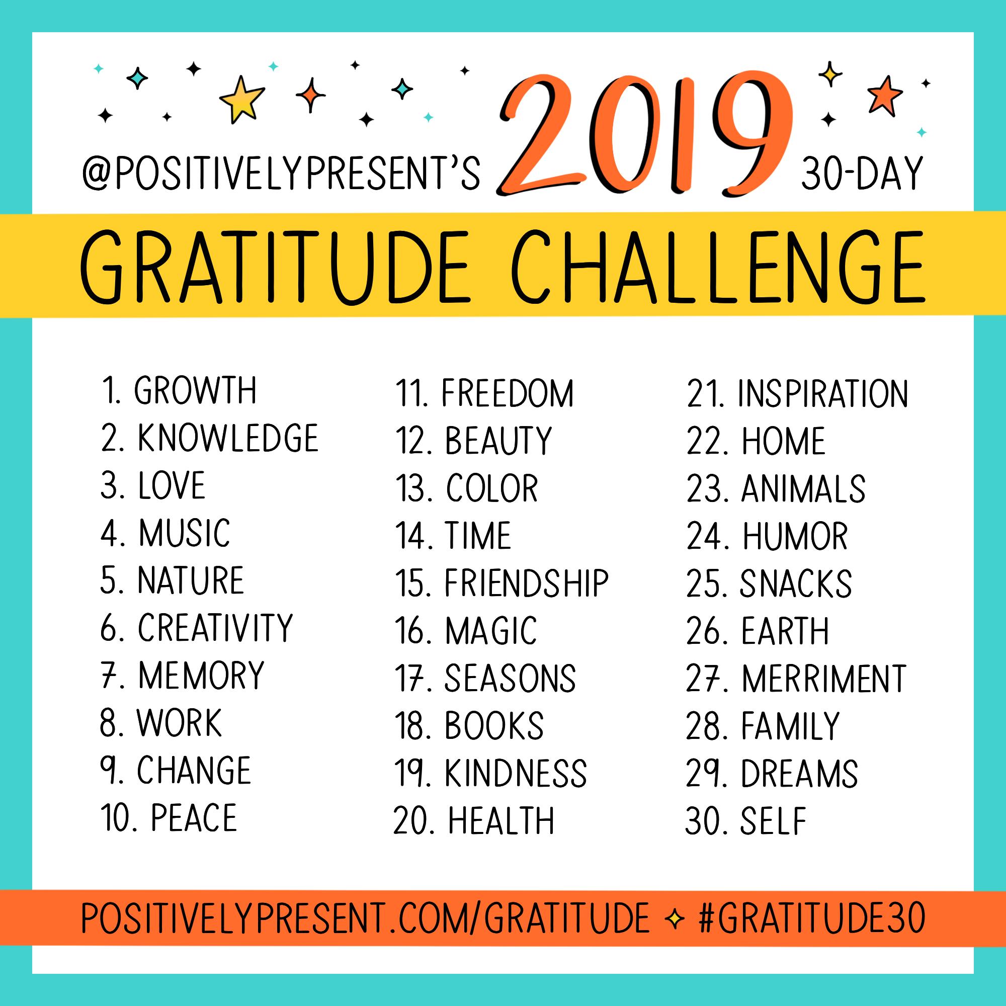 2019 gratitude challenge