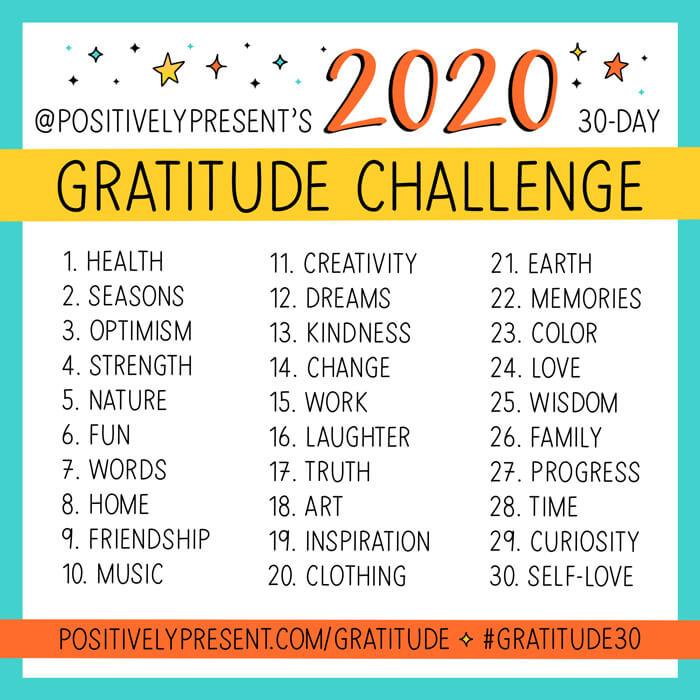 2020 Gratitude Challenge