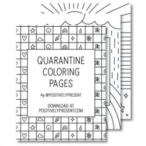 Quarantine Coloring Pages