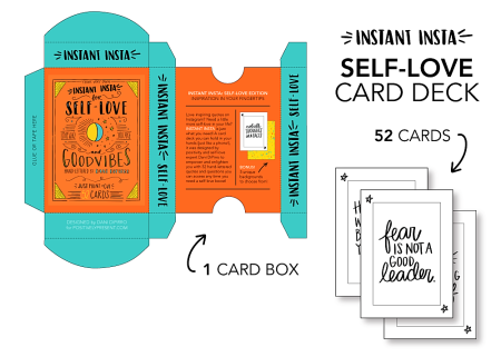 Instant Insta For Self Love And Good Vibes Card Deck